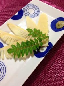 タケノコの刺身の写真